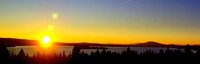 Sun Setting Over Rangeley Lake
