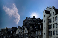 Edinburgh Castle from Cowgate