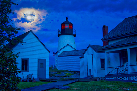 Thunder Moon Over Burnt Island Light Station